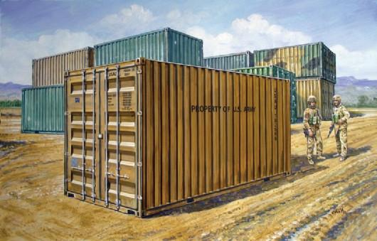 Italeri Military 1/35 20' Military Container Kit