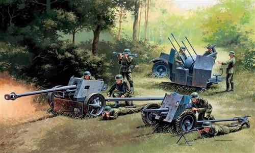 Italeri Military 1/72 German Gun Set: Pak 37, Pak 40, Flak 38 Kit