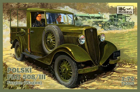 IBG Military 1/72 Polski Fiat 508/III Military Vehicle Kit