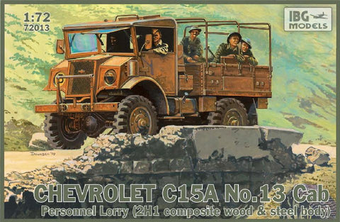 IBG Military 1/72 Chevrolet C15A Cab 13 Personnel Lorry Military Truck Kit