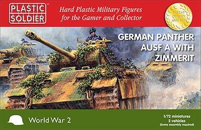Plastic Soldier 1/72 WWII German Panther Ausf A Tank w/Zimmerit (2) Kit