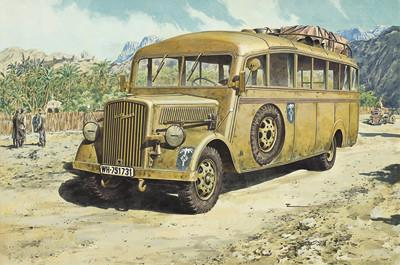 Roden Military 1/72 Opel Blitz 3.6-47 Model W39 Ludewig Late Omnibus Kit