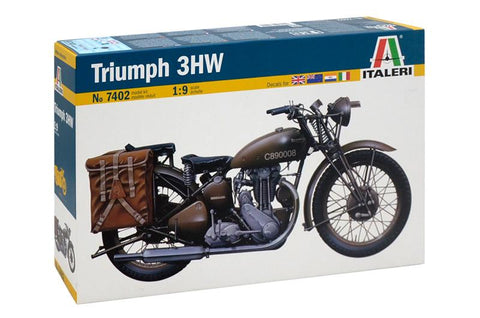 Italeri Military 1/9 WWII Triumph 3WH Military Motorcycle Kit