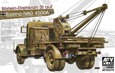 AFV Club 1/35 German Kfz100 L4500A Truck w/Bilstein 3T Crane Kit