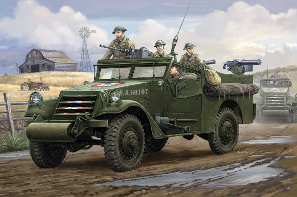 Hobby Boss 1/35 M3A1 Scout Car White Early Kit