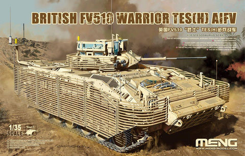 Meng Military 1/35 British FV510 Warrior TES(H) (AIFV) Armored Infantry Fighting Vehicle Kit