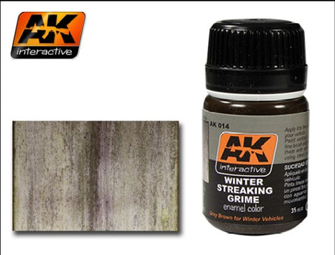 AK Interactive Winter Streaking Grime Enamel Paint 35ml Bottle