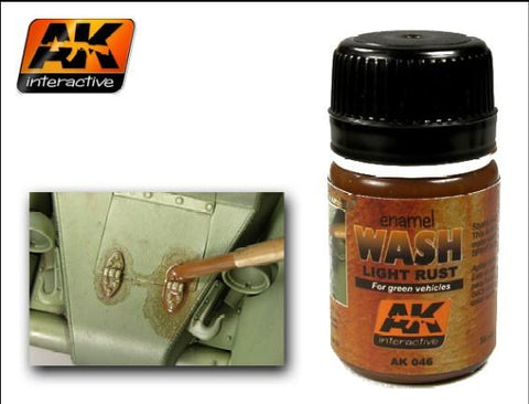 AK Interactive Light Rust Wash Enamel Paint 35ml Bottle