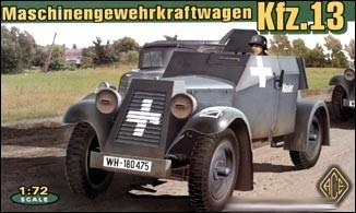 Ace 1/72 Kfz13 Light Armored Car Kit