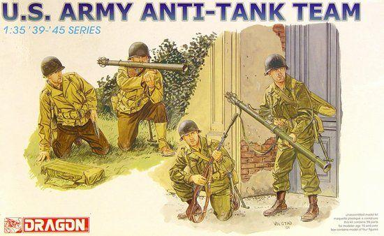 Dragon Military 1/35 US Anti-Tank Team (4 Figures) Kit
