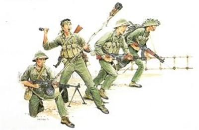 Dragon Military 1/35 North Vietnamese Army Sapper Team (4) Kit