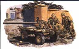 Dragon Military 1/35 MULE w/106mm Recoilless Rifle & 2 Crew Hue City 1968 Kit