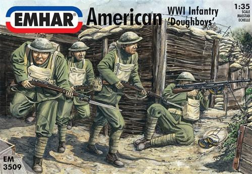 Emhar Military 1/35 WWI American Doughboys Infantry Kit