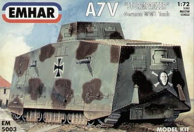 Emhar Military 1/72 WWI A7V Sturm Pz Tank Kit