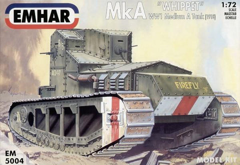Emhar Military 1/72 WWI Whippet Mk A Medium Tank 1918 Kit