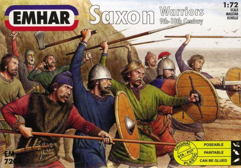 Emhar Military 1/72 9th-10th Century Saxons Warriors (50) Kit