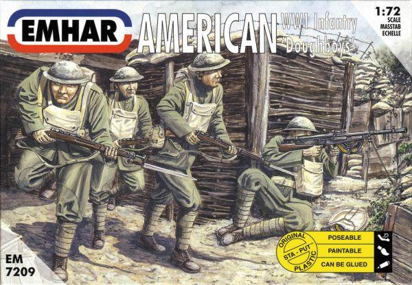 Emhar Military 1/72 WWI American Doughboys Infantry (50) Kit