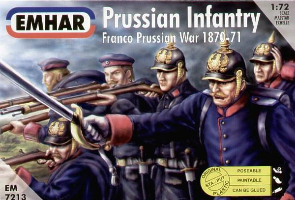 Emhar Military 1/72 Franco Prussian War 1870-71 Prussian Infantry (50) Kit