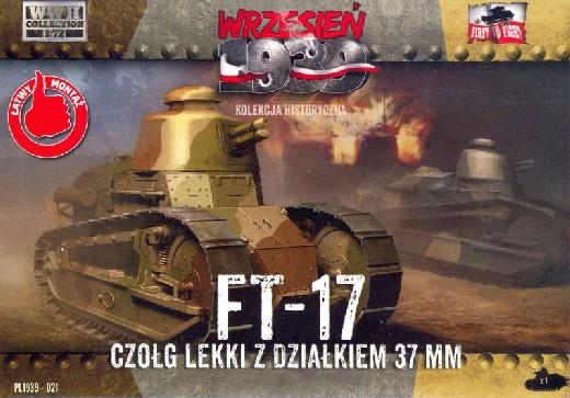 First To Fight 1/72 FT17 Light Tank w/Round Turret & 37mm Gun Kit