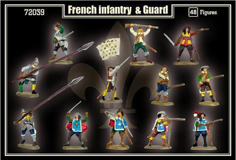Mars 1/72 Thirty Years War French Infantry & Guard (48) Kit