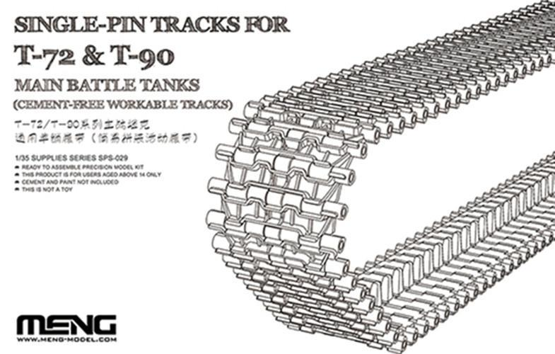 Meng 1/35 Tracks T-72 & T-90 MBT Single Pin Kit