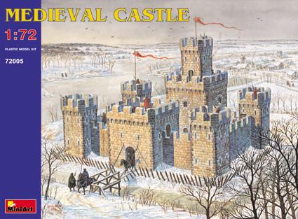 MiniArt Military Models 1/72 XII-XV Century Medieval Castle w/High Towers Reissue Kit