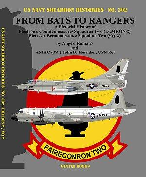 Ginter Books - US Navy Squadron Histories: From Bats to Rangers A Pictorial History of Electronic Countermeasures/Fleet Air Recon Sq. Two (ECMRON2)/(VQ2)