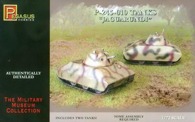 Pegasus Military 1/72 P245-010 Jaguarundi Tank (2) (Snap Kit)