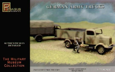 Pegasus Military 1/72 German Army Truck (2) (Snap Kit)