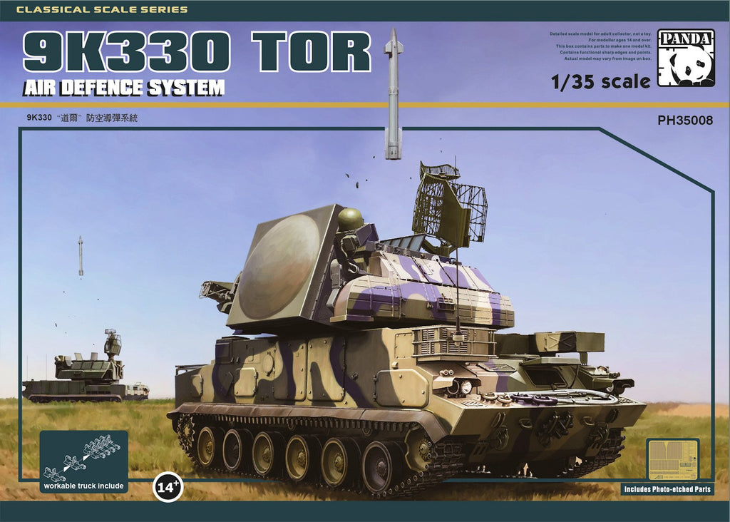 Panda Hobby 1/35 Russian 9K330 TOR-M1 Air Defense Missile System Kit