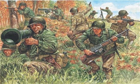 Italeri Military 1/72 WWII US Infantry 2nd Division (50) Kit