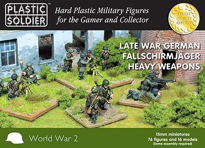 Plastic Soldier 15mm Late WWII German Fallschirmjager (76) w/Heavy Weapons Kit