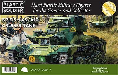 Plastic Soldier 15mm British A9/A10 Cruiser Tank (5) Kit
