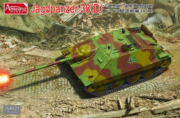 Amusing Hobby 1/35 WWII Project Jagdpanzer 38D Kit