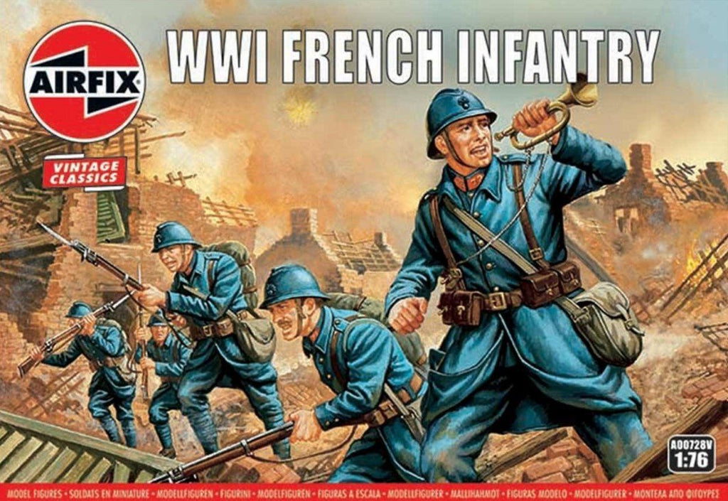 Airfix Military 1/76 WWI French Infantry Figure Set (Re-Issue) Kit