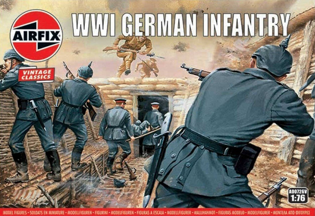 Airfix Military 1/76 WWI German Infantry Figure Set (Re-Issue) Kit