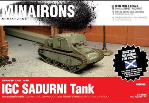 Minairons Miniatures 1/72 Spanish Civil War: IGC Sadurni Carrier (1) w/Crew (Resin) Kit
