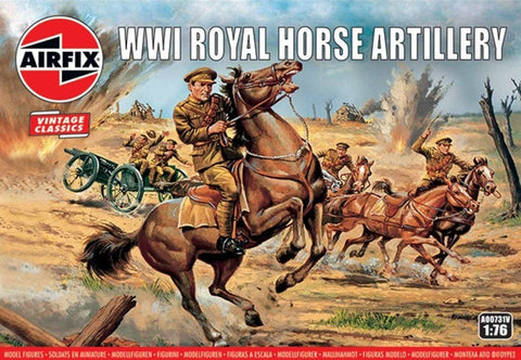 Airfix Military 1/76 WWI Royal Horse Artillery Figure Set (Re-Issue) Kit