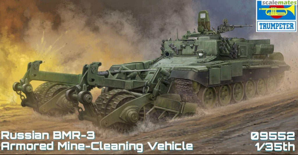 Trumpeter Military Models 1/35 Russian BMR3 Armored Mine Clearing Vehicle (New Tool) Kit