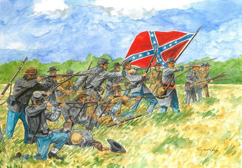 Italeri Military 1/72 American Civil War Confederate Infantry (50) Kit