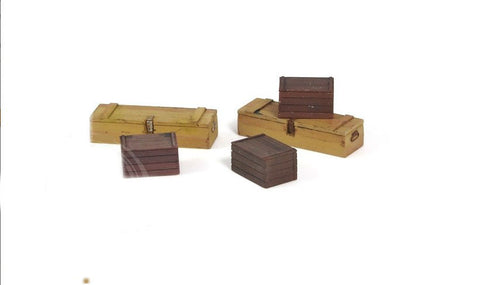 Matho 1/35 Wooden-Type Crates, Resin (5) (2 Different Types)