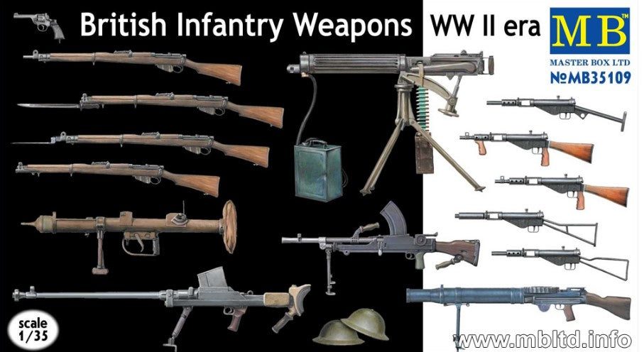 Master Box Ltd 1/35 WWII German Infantry Weapons Kit