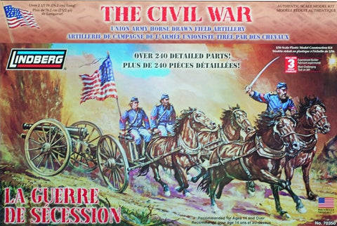 Lindberg Military 1/16 Civil War: Union Horse Drawn Field Artillery Kit
