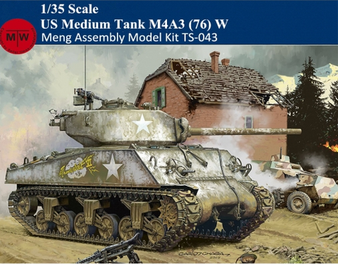 Meng Military 1/35 M4A3(76)W Sherman US Medium Tank Kit