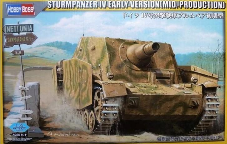 Hobby Boss 1/35 German Sturmpanzer IV Early Version (Mid Production) w/Interior Kit