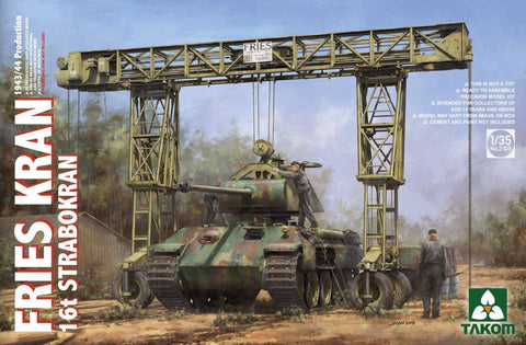 Takom 1/35 Fries Kran 16t Strabokran 1943-44 Production Crane Kit