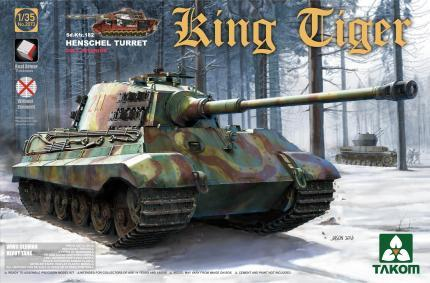Takom 1/35 WWII German King Tiger SdKfz 182 Henschel Turret Heavy Tank w/Full Interior Kit