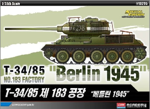 Academy Military 1/35 T34/85 No.183 Factory Tank Berlin 1945 Kit