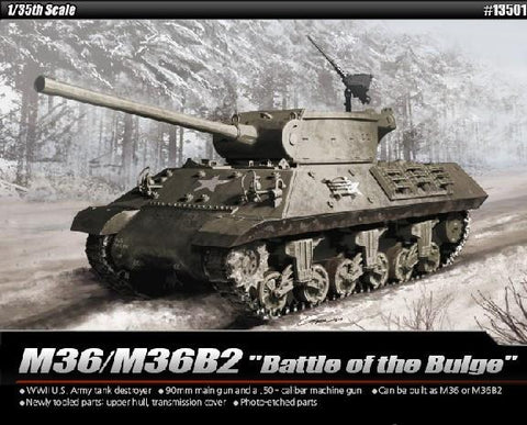 Academy 1/35 M36/M36B2 US Army Tank Destroyer Battle of Bulge Kit