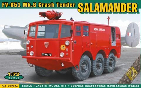 Ace Military 1/72 FV651 Mk6 Salamander Crash Tender Emergency Vehicle Kit